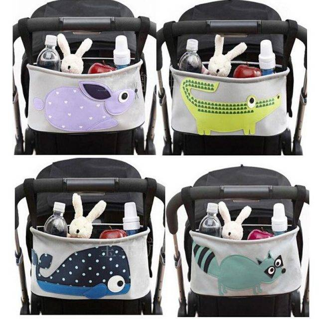 Comfortable Stroller Organizer with Funny Animal Print