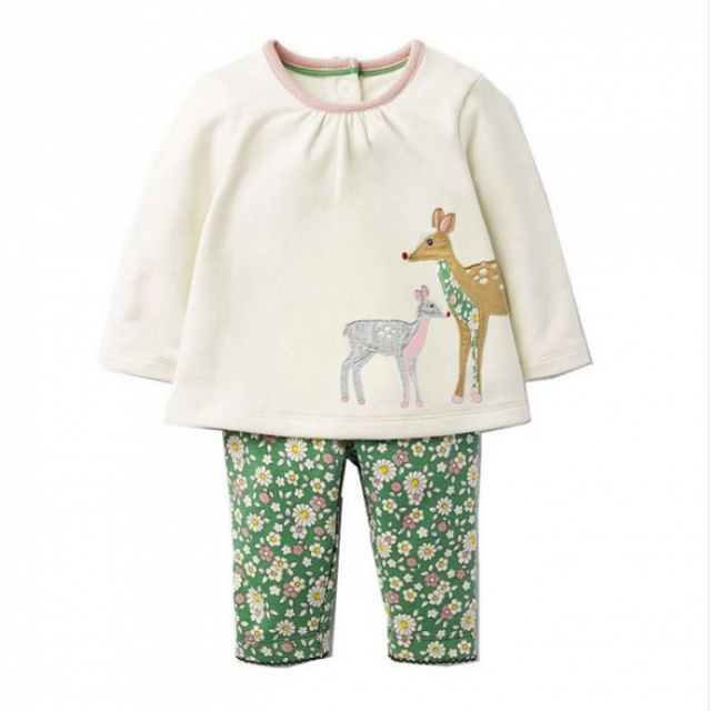 Baby Girl's Clothing Sets with Animal Print