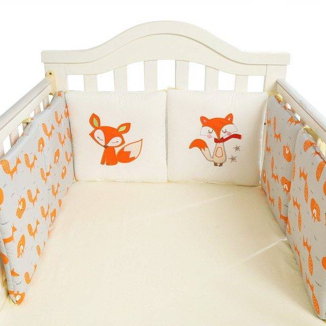 Baby's Comfortable Cotton Crib Bed Bumpers Set