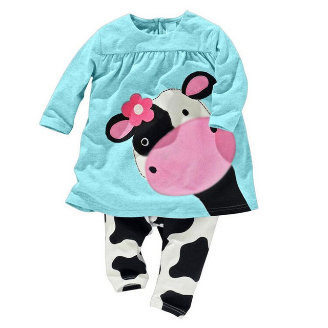 Baby Girl's Lovely Style Cotton Clothing Set