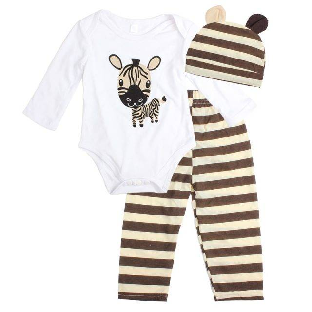 Baby Girl's Lovely Cotton Giraffe Printed Clothing Set