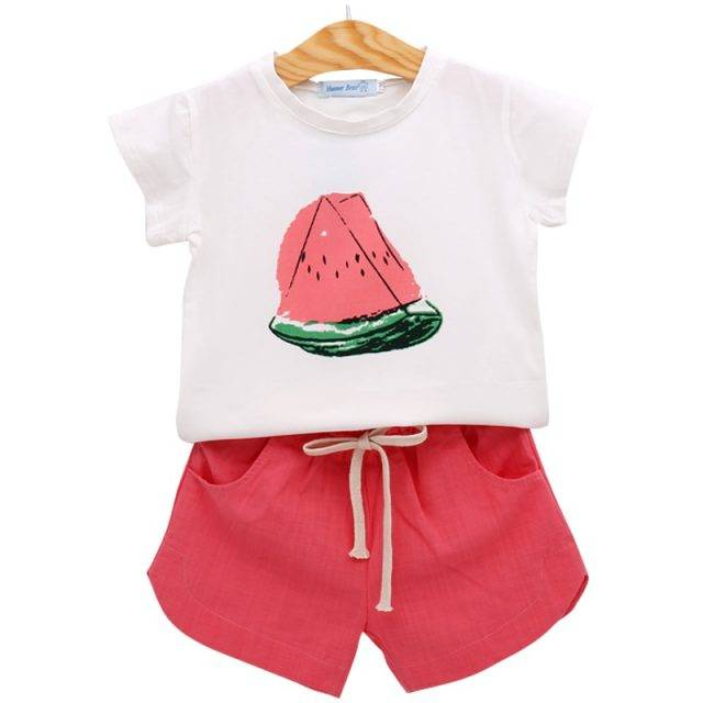Breathable Watermelon Printed Clothing Set