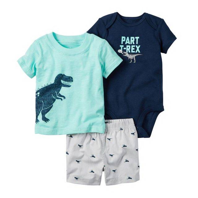Baby Boy's Bodysuit, Top and Shorts Clothing Set