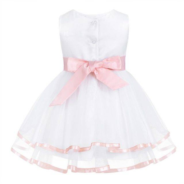 Baby Girl's Sleeveless Gown Dress with Bow