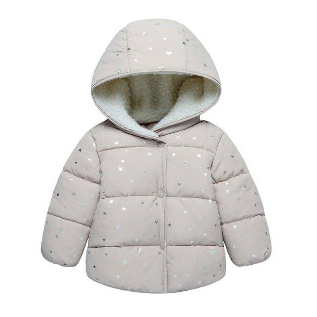 Lovely Warm Padded Hooded Baby Girl's Jacket