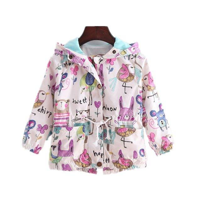 Baby Girl's Hooded Polyester Jacket