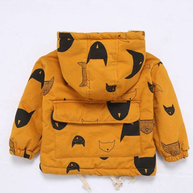 Fashion Solid Hooded Jacket for Baby Boys