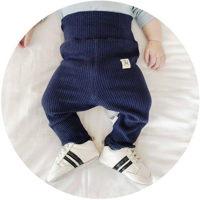 Solid Color Cotton Baby Girls Pants