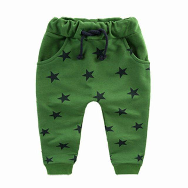 Baby Boy's Harem Style Star Patterned Pants