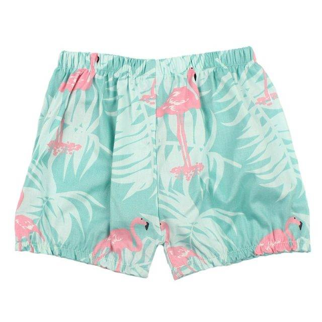 Girls' Loose Printed Cotton Shorts