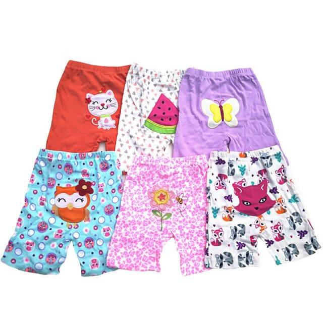 Trendy Cartoon Print Cotton Shorts for Babies