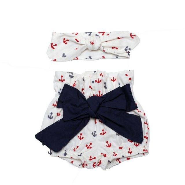 Lovely Floral Print Cotton Shorts for Baby Girls