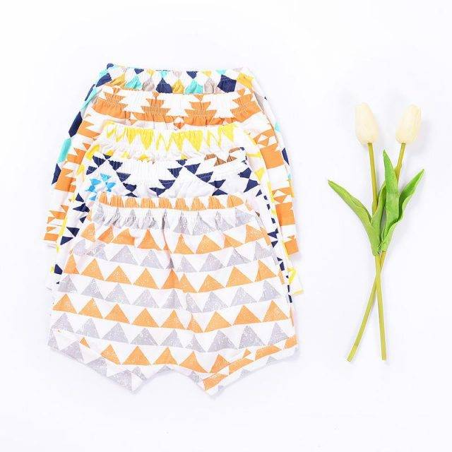 Baby's Loose Cotton Shorts with Elastic Waist