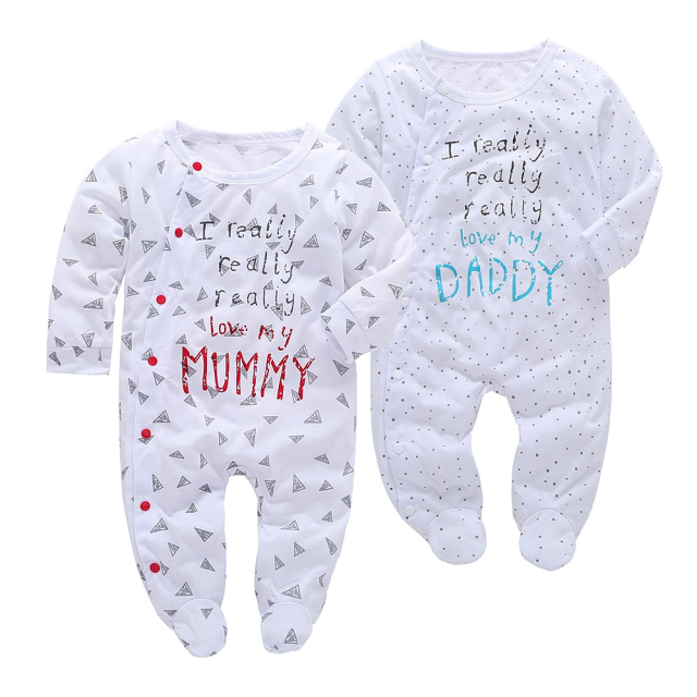 Cotton Long Sleeved Baby's Pajamas