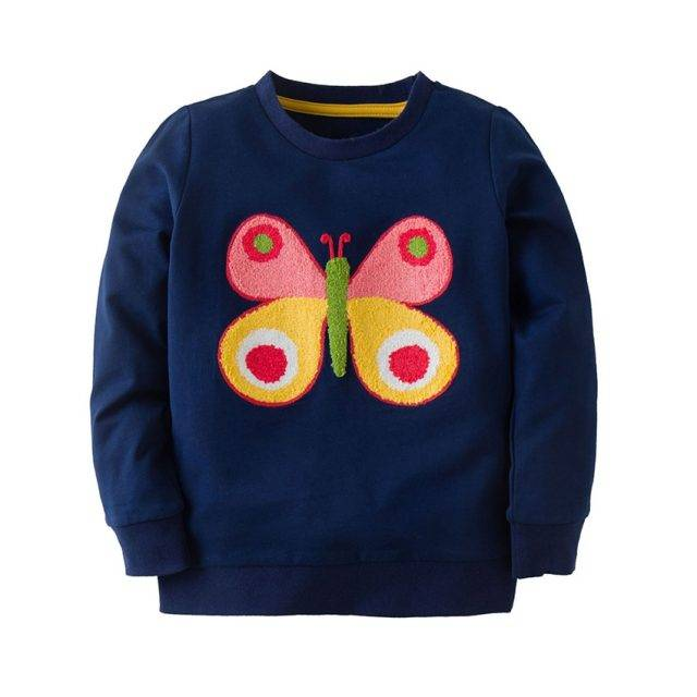 Butterfly Embroidered Long Sleeve Sweater