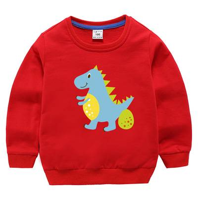 Boy's Casual Bright Printed Cotton Sweater