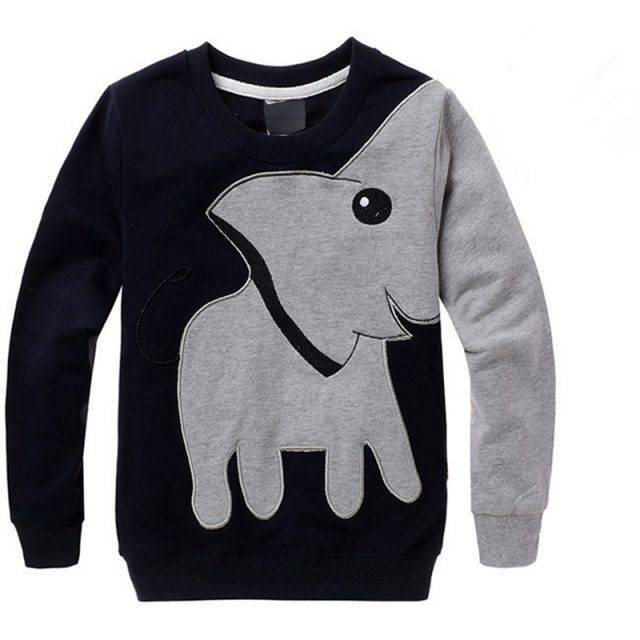 Baby Boy's Elephant Printed Sweater