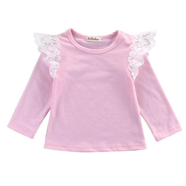 Fashion Comfortable Cotton Lace Baby Girl's T-Shirt