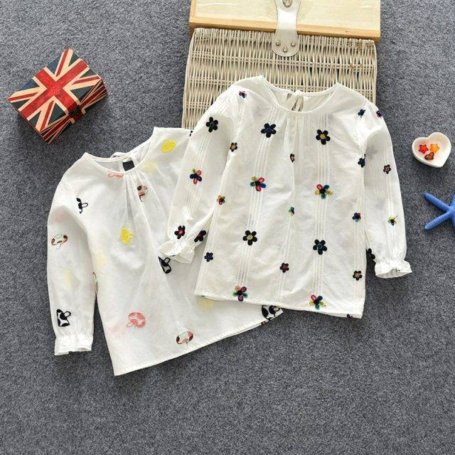 Baby Girls' Cute Embroidered Blouse