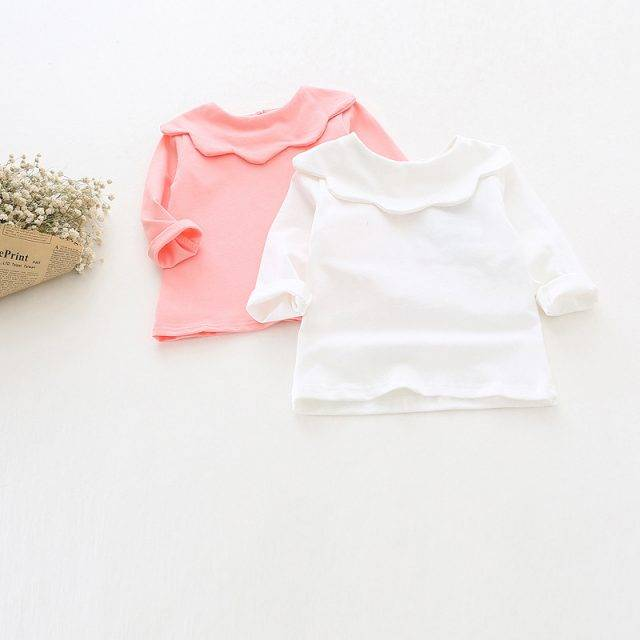 Soft Baby Girl's Tulip Collar Top