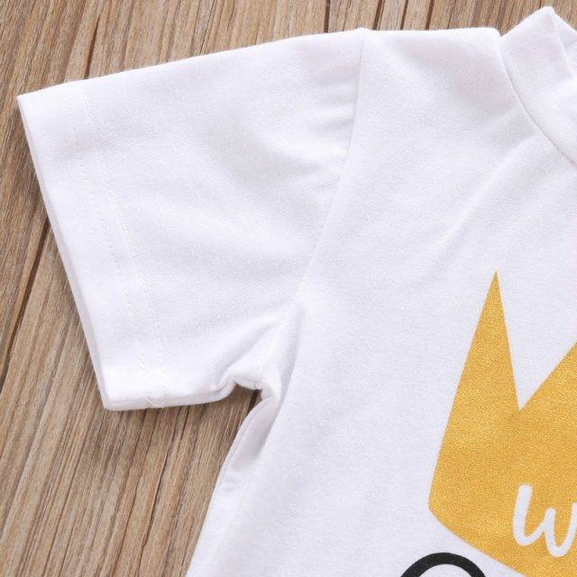 Cute Inscribed Cotton Baby T-Shirt