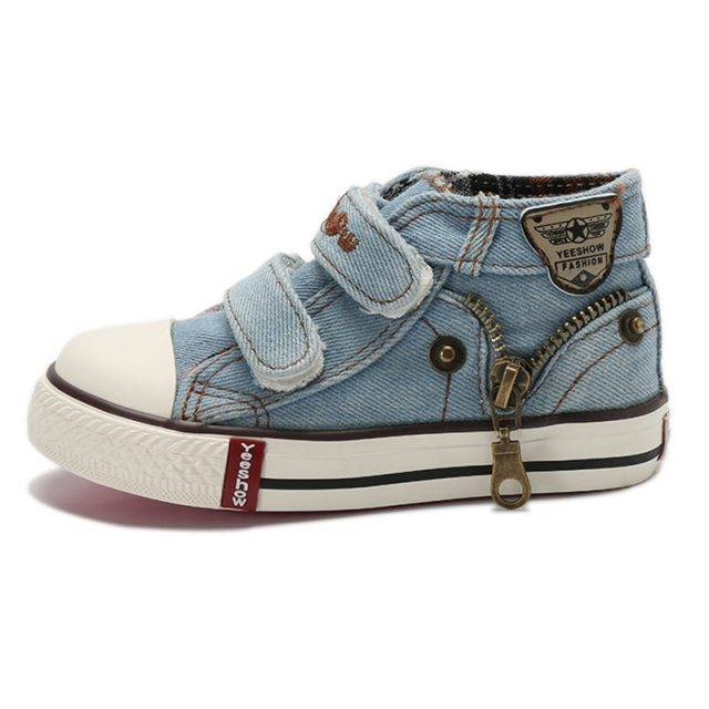 Kid's Zip-Through Canvas Shoes