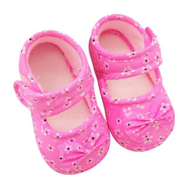 Lovely Soft Anti-Slip Girl's Crib Shoes