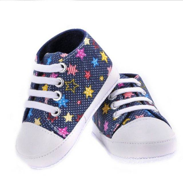 Fashion Casual Multicolored Cotton Baby Sneakers