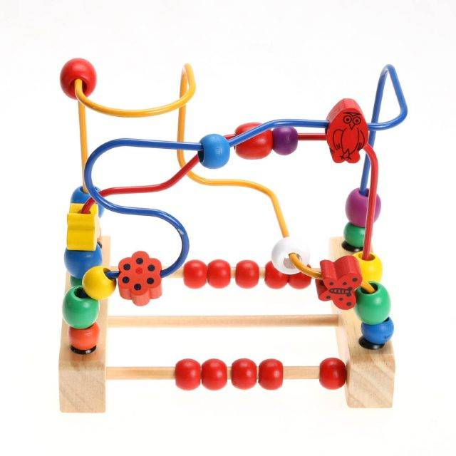 Baby Multifunctional Labyrinth Wooden Blocks