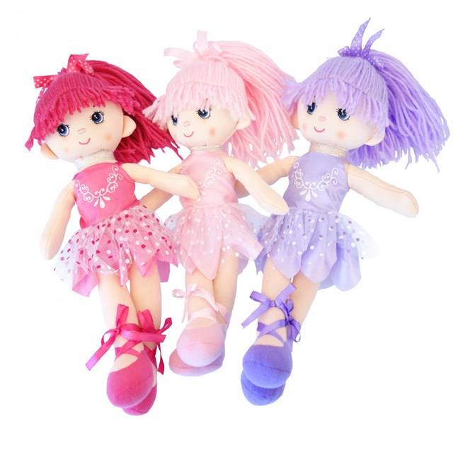 Cute Handmade Plush Kid's Dancing Doll