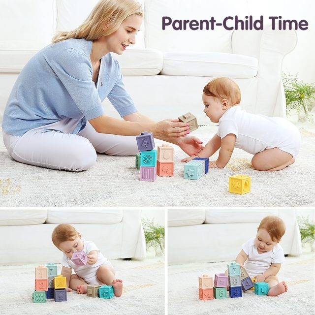 Soft Musical Squishy 3D Building Blocks