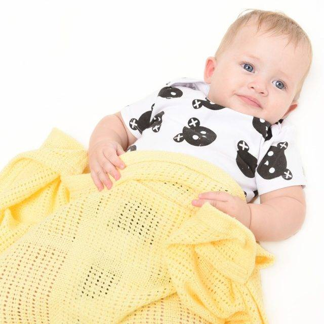 Baby's Cotton Crochet Blanket