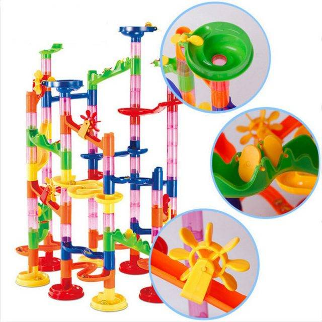 Set Marble Construction Building Blocks
