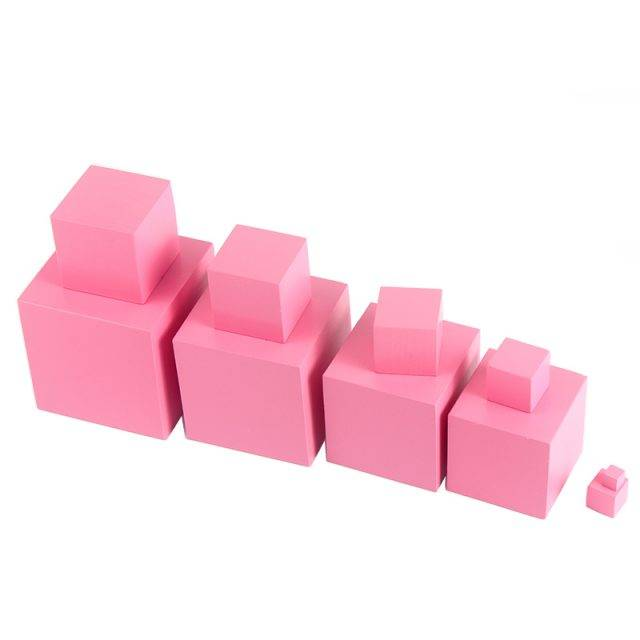 Educational Pastel Pink Wooden Cubes Set