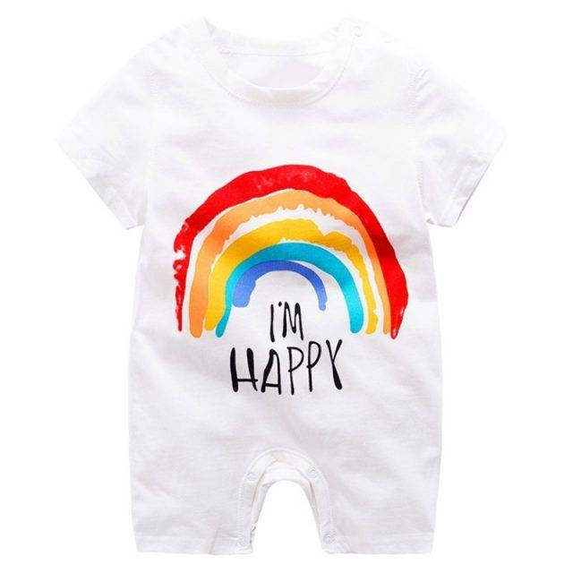 Colorful Cartoon Baby Boys Romper Active or Sleepwear